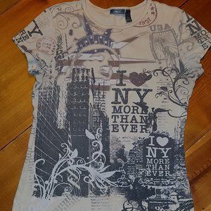 APT.9*I LOVE NEW YORK*VINTAGE LOOK*T-SHIRT*SZ M*